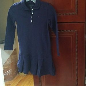 Navy Blue Girl Tommy Polo Dress